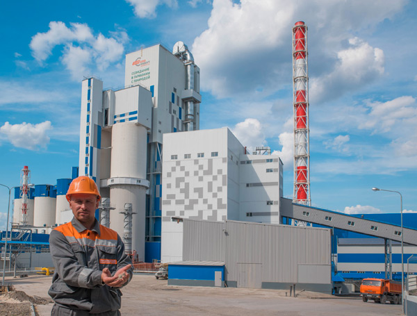 Запуск Сенгилеевского цементного завода